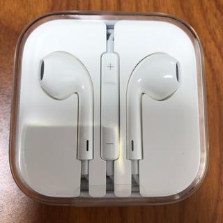アイフォーン(iPhone)のiPhoneSE イヤホン 純正品(ヘッドフォン/イヤフォン)