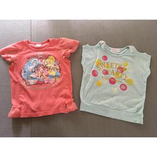 バンダイ(BANDAI)のプリキュア  Tシャツ 2枚セット 110cm(Tシャツ/カットソー)