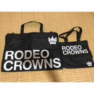 ロデオクラウンズ(RODEO CROWNS)のロデオクラウンズ ショップ袋 大小2枚セットです(ショップ袋)