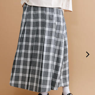 903c96a9564dec メルロー(merlot)のmerlot チェック柄ボックスプリーツロングスカート(ロングスカート)