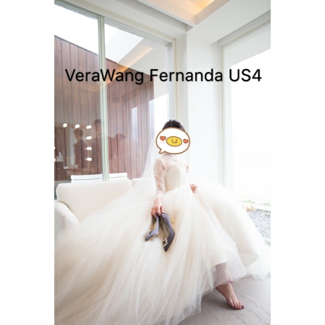 Vera Wang(ヴェラウォン)のVERAWANG Fernanda  ヴェラウォン  フェルナンダUS4 レディースのフォーマル/ドレス(ウェディングドレス)の商品写真