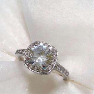 CZダイアモンド スターリング シルバーリング18号(リング(指輪))