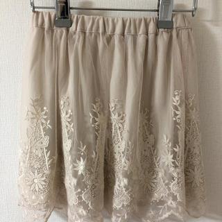 エイチアンドエム(H&M)の美品 レーススカート(ひざ丈スカート)