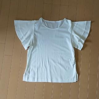 GU - GU 袖フリル ホワイト