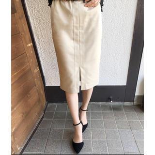 アーバンリサーチ(URBAN RESEARCH)のアズールエンカント フロントラインストレッチタイトスカート(ひざ丈スカート)