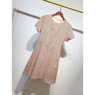 クリスチャンディオール(Christian Dior)のChristian Dior ディオール 19ss プリントドレス S(ひざ丈ワンピース)