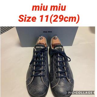 ミュウミュウ(miumiu)のMiu Miu スニーカー サイズ11(29cm) ミュウミュウ ダメージ加工(スニーカー)