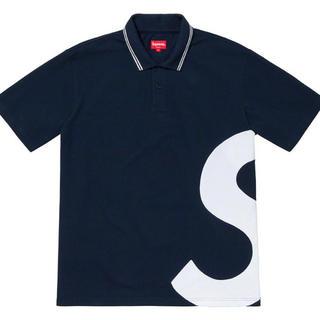 Supreme - S Logo Polo supreme ネイビー サイズM