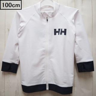 ヘリーハンセン(HELLY HANSEN)のヘリーハンセン フルジップ 長袖ラッシュガード 100cm☆ホワイト(水着)