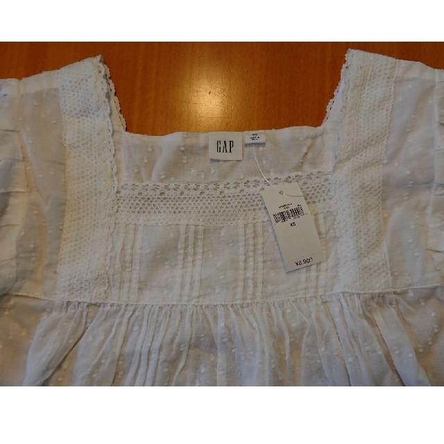 GAP(ギャップ)の白ブラウス レディースのトップス(シャツ/ブラウス(半袖/袖なし))の商品写真