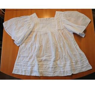 ギャップ(GAP)の白ブラウス(シャツ/ブラウス(半袖/袖なし))