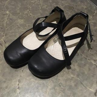 ドクターマーチン(Dr.Martens)のドクターマーチン☆黒革☆ストラップシューズ☆24cm(ローファー/革靴)