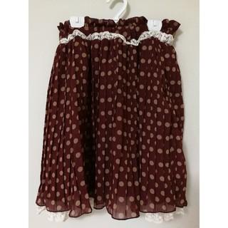 リズリサ(LIZ LISA)の♡美品♡ドットプリーツスカート/リズリサ(ひざ丈スカート)