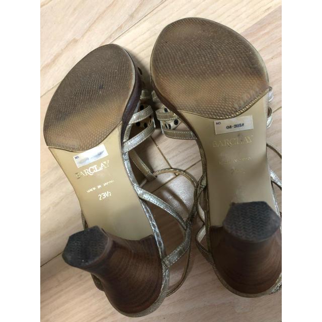 BARCLAY(バークレー)のバークレー ゴールドサンダル レディースの靴/シューズ(サンダル)の商品写真