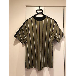 Jil Sander - OAMC オーエーエムシー 18SS ストライプ切替Tシャツ メンズ カーキ