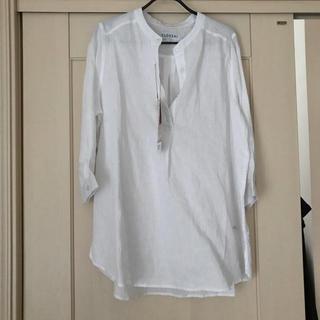 しまむら - 麻白シャツ