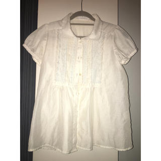 ローリーズファーム(LOWRYS FARM)の白シャツ(シャツ/ブラウス(半袖/袖なし))