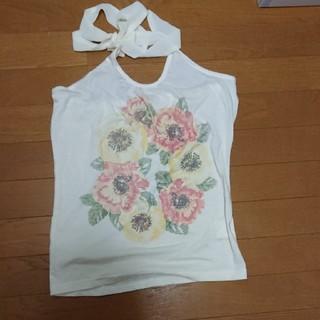 シマムラ(しまむら)の花がかわいいノースリーブ(カットソー(半袖/袖なし))