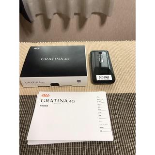 京セラ - 新品 au KYF31 GRATINA 4G ブラック 判定○