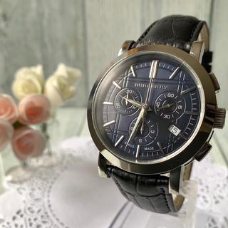 バーバリー(BURBERRY)の【美品】BURBERRY バーバリー BU1360 腕時計 クロノグラフ(腕時計(アナログ))