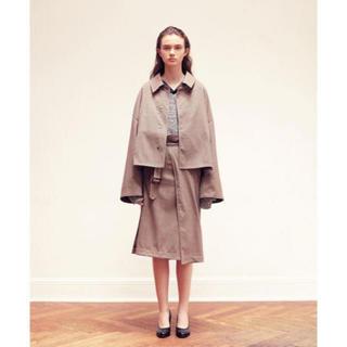 SUNSEA - YOKE 3way bal collar share coat