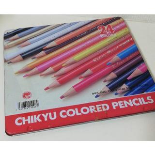 【未使用】色鉛筆 24色 地球鉛筆 ケース汚れ有 日本製