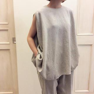 エンフォルド(ENFOLD)の専用  美品  ENFOLD 18SS リネンライクPO(シャツ/ブラウス(半袖/袖なし))