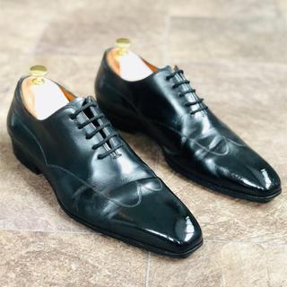 Santoni - 【サントーニ】革靴 25.5cm相当 ホールカット