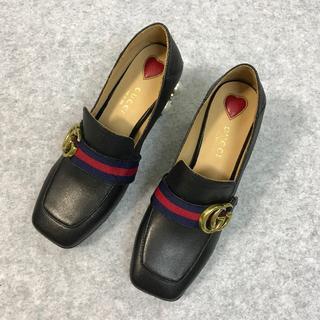 グッチ(Gucci)のGUCCI グッチ  靴/シューズ ハイヒール ローファー パンプス  36(ローファー/革靴)
