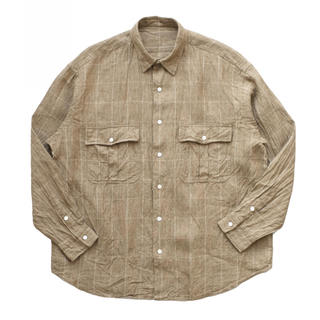 PORTER - 19ss ポータークラシック ROLL UP LINEN CHECK SHIRT