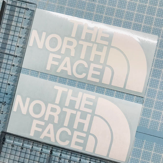 THE NORTH FACE - 白色2枚ザノーフフェイスTHE NORTH FACE カッティングステッカー