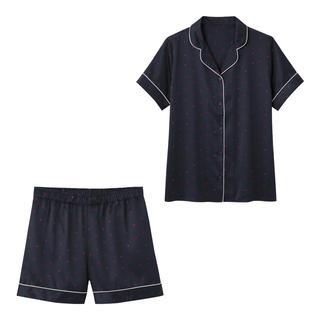 ジーユー(GU)のサテンハート半袖パジャマ(パジャマ)