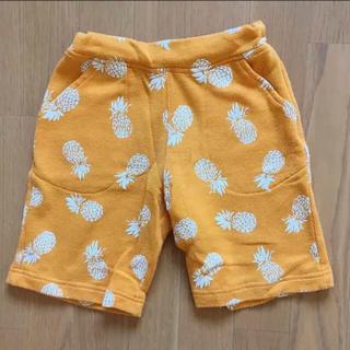 GU - パイナップル柄 ハーフパンツ 120cm オレンジ色