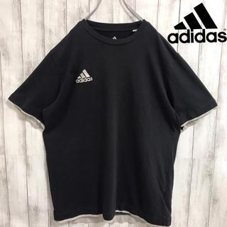 アディダス(adidas)の90s 古着 adidas アディダス 刺繍ロゴ スリーライン Tシャツ(Tシャツ/カットソー(半袖/袖なし))