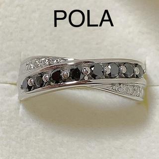 ポーラ(POLA)のがちゃこ様専用 k18WG  ブラック&ダイヤモンド リング(リング(指輪))