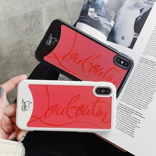 クリスチャンルブタン(Christian Louboutin)の大人気♡特別価格♡売れてます♡iphoneケース X XS 赤 黒(iPhoneケース)