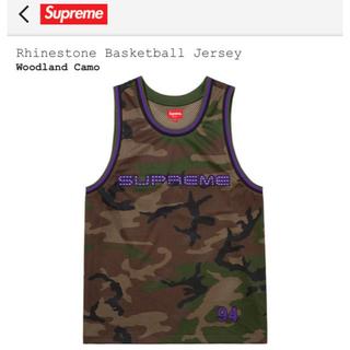 シュプリーム(Supreme)のSupreme   Rhinestone basketball jersey(タンクトップ)