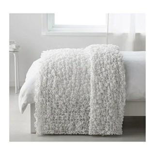 イケア(IKEA)のイケア OFELIA 毛布 オフェーリア ホワイト タオルケット ガーゼ(毛布)