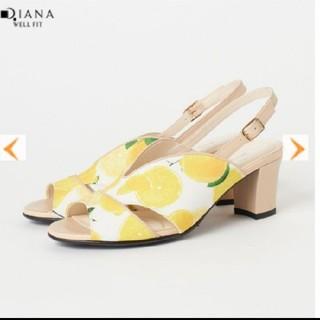 ダイアナ(DIANA)の今期!DIANA ダイアナ サンダル ミュール 21.5cm レモン柄 かねまつ(サンダル)