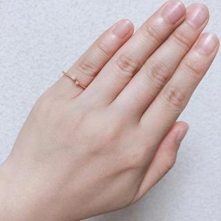 アガット(agete)のアガット 2粒ダイヤ  18K リング(リング(指輪))