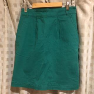ローリーズファーム(LOWRYS FARM)のグリーン タイトスカート(ミニスカート)