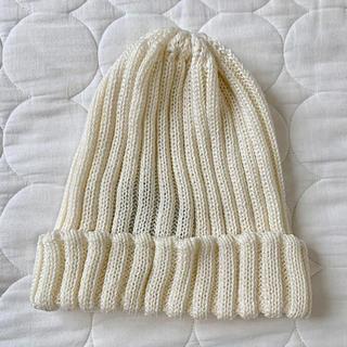 ローズバッド(ROSE BUD)の未着用☆ローズバット購入☆コットンニット帽☆オフホワイト(ニット帽/ビーニー)