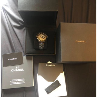 シャネル(CHANEL)のCHANEL j12 マットブラック 42mm(腕時計(アナログ))