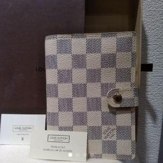 ルイヴィトン(LOUIS VUITTON)のLouis Vuitton ルイヴィトン 手帳カバー ダミエアズール(手帳)