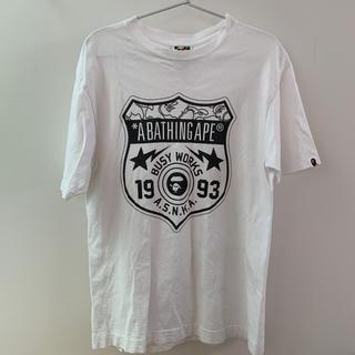アベイシングエイプ(A BATHING APE)のTシャツ エイプ ホワイト(Tシャツ/カットソー(半袖/袖なし))
