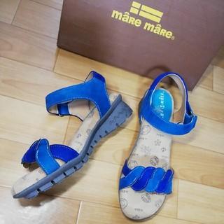 マーレマーレ デイリーマーケット(maRe maRe DAILY MARKET)の新品maRe maReマーレマーレ ダブルカラーサンダル青 LL 24.5cm(サンダル)
