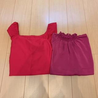 ジーユー(GU)のGU ブラウス set ❥(シャツ/ブラウス(半袖/袖なし))
