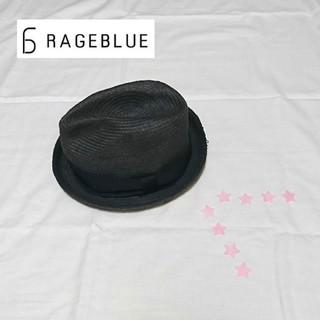 レイジブルー(RAGEBLUE)のRAGEBLUE 麦わら帽子 ペーパーストローハット ブラック(ハット)
