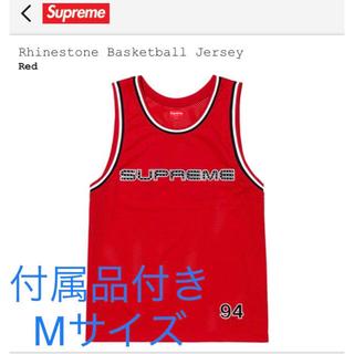 シュプリーム(Supreme)のSupreme 赤 Rhinestone Basketball Jersey(タンクトップ)