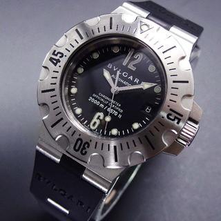 ブルガリ(BVLGARI)の美品 ブルガリ ディアゴノ スクーバ 2000m防水  SD42 保証書付き(腕時計(アナログ))